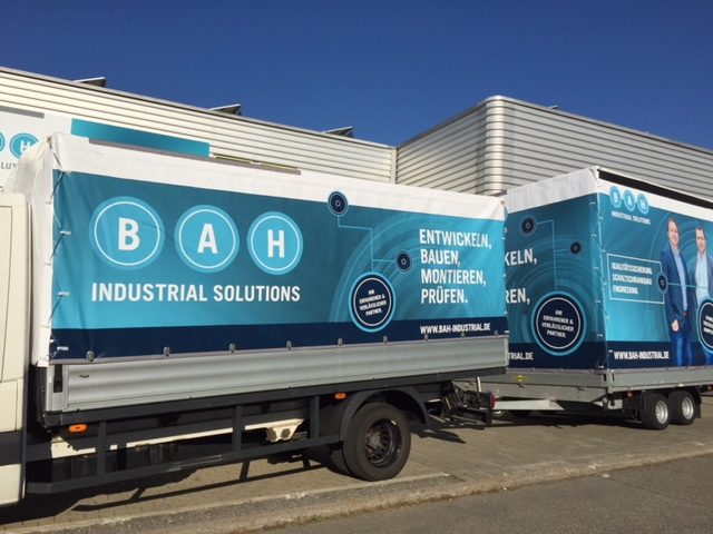 Fahrbare Werbung BAH Industrial Solutions